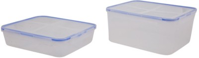 Snapware Square Shaped Color Boxes  - 1800 ml, 4300 ml Plastic Food Storage
