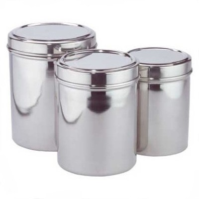 Ajeet Canister Food Grains  - 2 L, 1.5 L, 1 L Stainless Steel Multi-purpose Storage Container