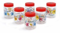 Sunshine Red Spectrum  - 500 ml Plastic Food Storage(Pack of 6, Red)