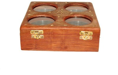 Acme Production  - 5 ml Wooden Multi-purpose Storage Container(Brown) at flipkart