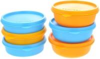 Herware 104 E  - 2430 ml Plastic Multi-purpose Storage Container(Pack of 6, Multicolor)