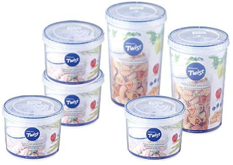 Lock & Lock LLS 141 + LLS 143  - 940 ml, 1900 ml Plastic Food Storage(Pack of 6, Clear)