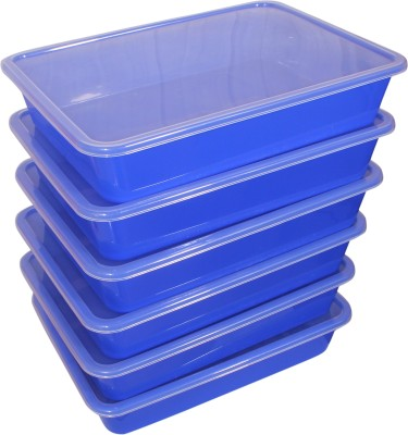 Enrich Plastic  - 7 L Plastic Multi-purpose Storage Container(Pack of 6, Blue)