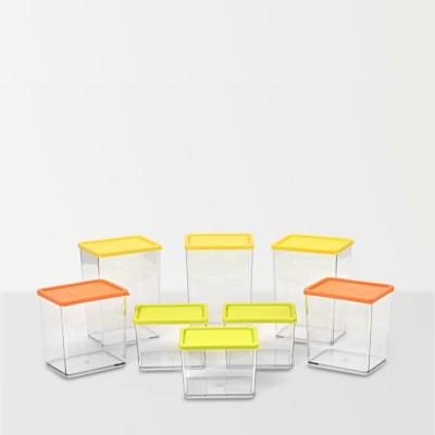 Disha Marketing Disha Container 8 Pcs Combo  - 0.8 L Plastic Multi-purpose Storage Container