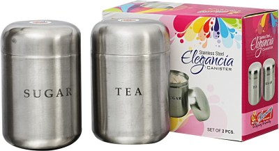 MiLi ELEGANCIA TEA SUGAR CANISTER  - 1000 ml Stainless Steel Tea, Coffee & Sugar Container
