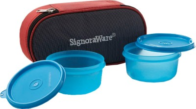 Signoraware Mid-Day Lunch Box with Bag - 310 ml Plastic Food Storage