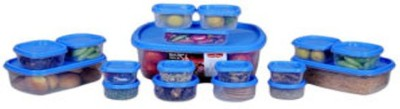 Princeware  - 4600 ml Plastic Food Storage(Pack of 18, Blue)