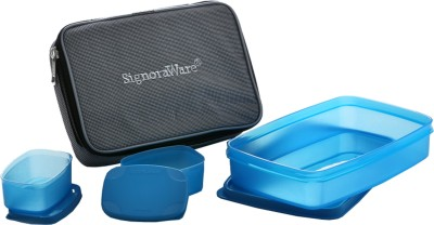 Signoraware Compact Lunch Box With Bag  - 100 ml, 850 ml Plastic Food Storage