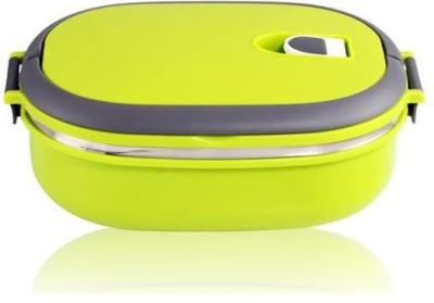 Gadget Bucket 446-Homio Single Layered Green 1 Containers Lunch Box