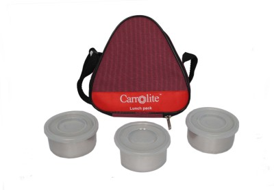 Carrolite Triangle Red 3 Containers Lunch Box