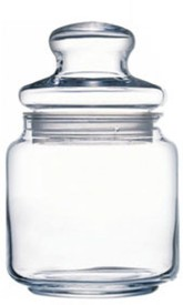 Arcoroc - 500 ml Glass Multi-purpose Storage Container(Pack of 2, Clear)