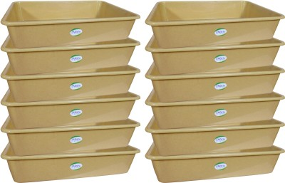 ENRICH Plastic  - 7 L Plastic Multi-purpose Storage Container(Pack of 12, Beige)