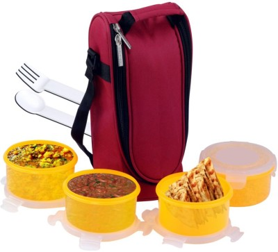 Art-n-soul Reveille Softline Tiffin Pack 4 Containers Lunch Box  - 400 ml Plastic Food Storage