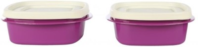 Cutting Edge Snap tight 2pc set food storage containers  - 600 ml Polypropylene Food Storage(Pack of 2, Purple)