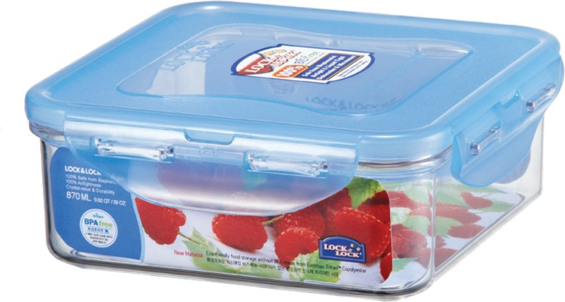 Lock & Lock Bisfree Square  - 870 ml Plastic Food Storage(Clear)