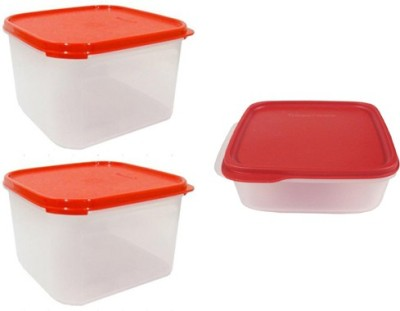 Tupperware Smart Storer  - 2.5 L, 2.5 L, 1.1 L Plastic Multi-purpose Storage Container(Pack of 3, Red, White) at flipkart