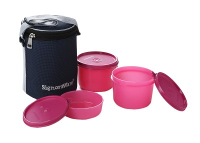 Signoraware Executive Lunch Box (Medium) With Bag  - 450 ml, 180 ml Plastic Food Storage