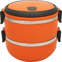 Home Belle 2 layer insulated lunch box  - 1 L Stainless Steel Multi-purpose Storage Container(Orange)