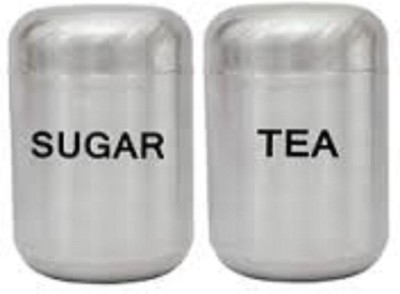 Magnusdeal Canister Set Of 2  - 500 ml Stainless Steel Multi-purpose Storage Container