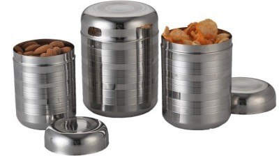 Aristo stainless Steel  - 1800 ml, 1500 ml, 800 ml Stainless Steel Multi-purpose Storage Container(Pack of 3, Steel)