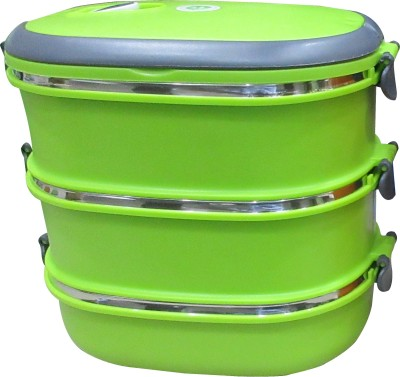 Blue Birds  - 1500 ml Stainless Steel Multi-purpose Storage Container(Green) at flipkart