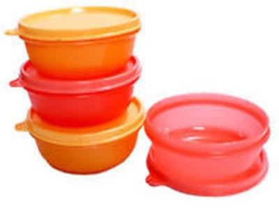 Tupperware  - 300 Ml Plastic Food Storage(Pack of 4, Pink, Orange) at flipkart
