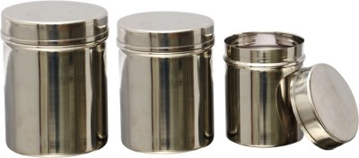 MiLi 3 PC STORAGE CANISTER SET  - 1800 ml Stainless Steel Multi-purpose Storage Container