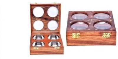 ANTIQUA V GROUP  - 4 L Wooden, Glass Multi-purpose Storage Container