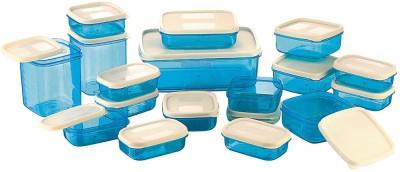 MasterCook 17 Pieces Blue  - 200 ml, 330 ml, 1630 ml, 150 ml, 500 ml, 700 ml Polypropylene Food Storage(Pack of 17, Blue)