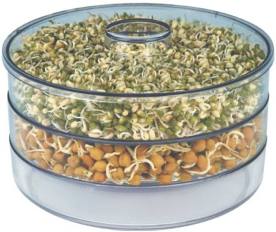 Patidar Polymers Healthy Sprout Maker ( Medium )  - 1800 ml Plastic Food Storage