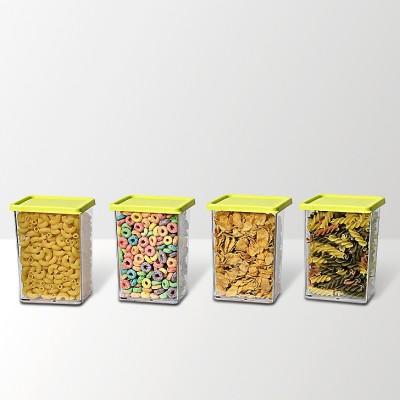 Disha Unbreakable Foodgrade Transparent 4 L Containers green  - 800 ml Plastic Food Storage