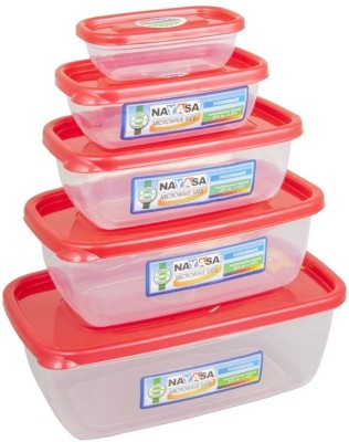 Nayasa Microwave Safe Size 0-4  - 300 ml, 680 ml, 1100 ml, 1800 ml, 150 ml Plastic Food Storage