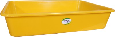 ENRICH Plastic  - 7 L Plastic Multi-purpose Storage Container(Pack of 6, Yellow)