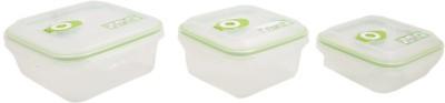 Snapware Color Square Boxes  - 700 ml, 1100 ml, 1500 ml Plastic Food Storage