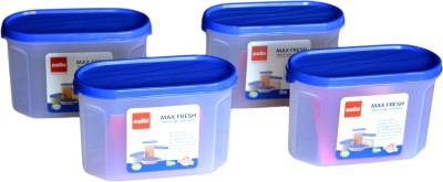 Cello Maxfresh Containers Modustore Oval  - 1200 ml Plastic Multi-purpose Storage Container(Pack of 4, Blue)