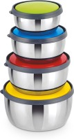 Classic Essential kivi bowls set of 4  - 350 ml, 650 ml, 950 ml, 1250 ml Stainless Steel Food Storage(Pack of 4, Multicolor)