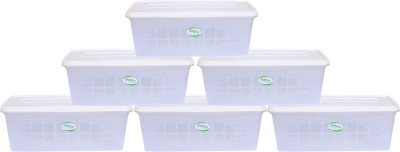 Enrich Plastic  - 4 L Plastic Multi-purpose Storage Container(Pack of 6, Clear)