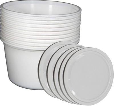 Manbhari White Polypropylene Plastic Containers  - 1200 ml Plastic Multi-purpose Storage Container