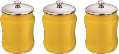 Aagam  - 1350 ml Stainless Steel Food Storage(Pack of 3, Yellow) at flipkart
