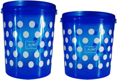 FAIR FOOD  - 10000 ml, 7500 ml Plastic Multi-purpose Storage Container(Pack of 2, Blue)