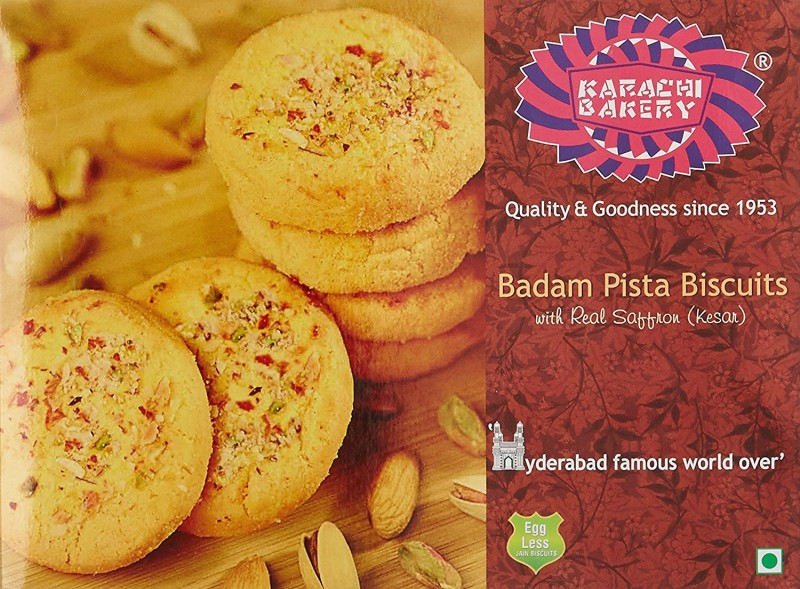Karachi Bakery Badam Pista With Real Saffro (Kesar) 400g (Pack of 2) Assorted Biscuit(400 g)