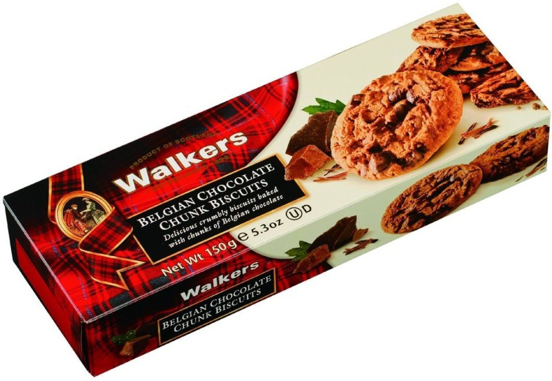 Walkers Belgian Chunk 150g Chocolate Biscuit(150 g)