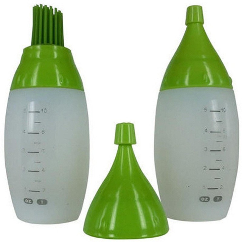 MOG Chef's Bottle decorating brushing Kit Silicone Round Pastry Brush