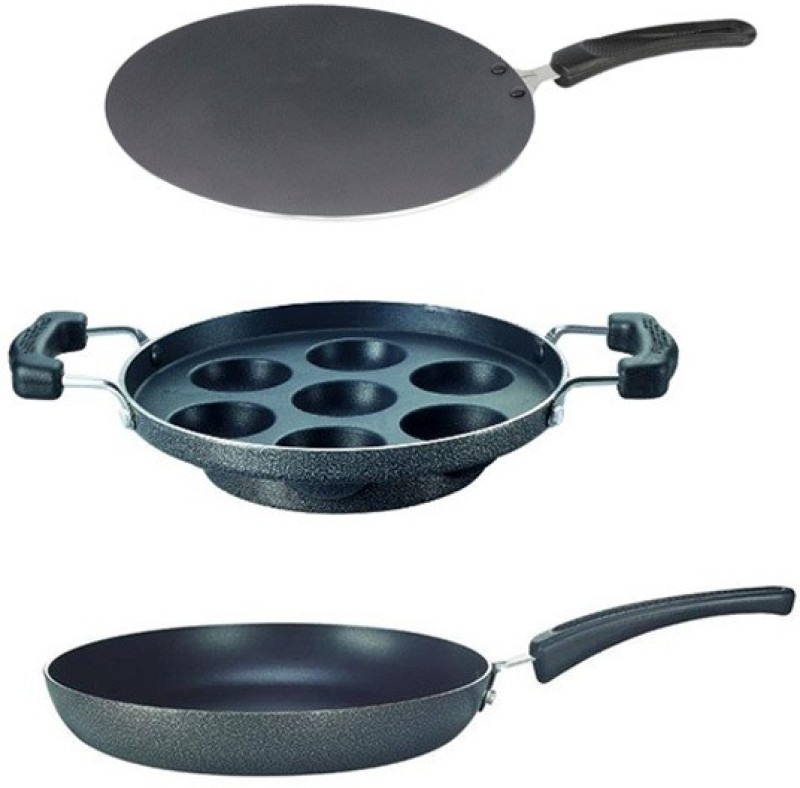 Prestige Prestige Omega Select & Cookware Breakfast 3pc Set Cookware Set(Aluminium, PTFE (Non-stick), 3 - Piece)