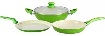Wonderchef emerald set Cookware Set(Ceramic, 3 - Piece)