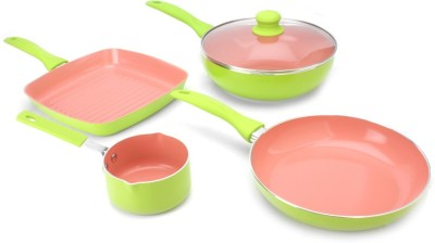 Wonderchef Oxford Set with Free Sauce Pan Cookware Set(Ceramic, 4 - Piece)
