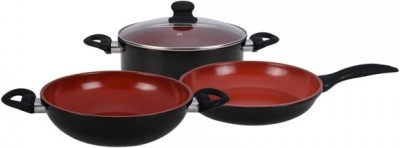 Wonderchef Mystique set of 4 Cookware Set(Ceramic, 3 - Piece)
