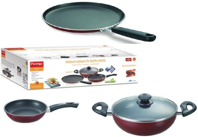 Prestige Omega Deluxe Cookware Set(Stainless Steel, 3 - Piece)