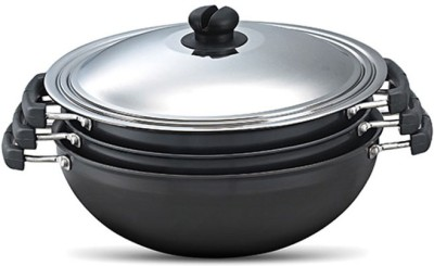 Prestige HA 3pc Kadai Cookware Set(Aluminium, 4 - Piece)