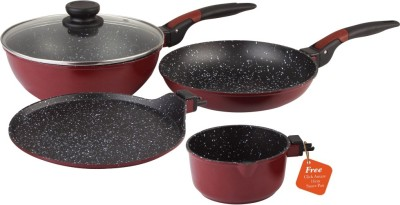 Wonderchef Wonderchef Click Amaze Set Cookware Set(PTFE (Non-stick), 4 - Piece)